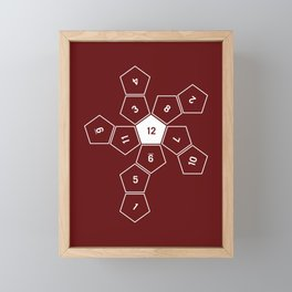 Unrolled D12 Framed Mini Art Print