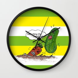 Vegetables' daily life on Planet V 01  Wall Clock