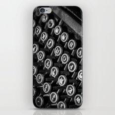 black and white typewriter iPhone & iPod Skin