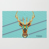 bambi Area & Throw Rugs featuring Bambi Stardust by chobopop