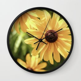 Vintage Black Eyed Susan Wall Clock