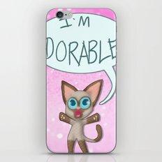 Adorable Siamese Cat iPhone & iPod Skin