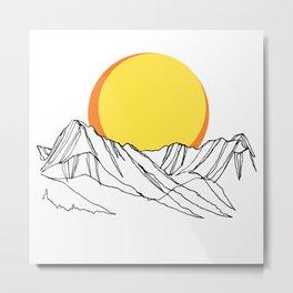 Rockies Ridges :: II Metal Print