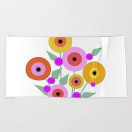 Floral Potpourri Beach Towel