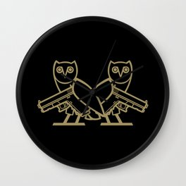 Back to Back Wall Clock
