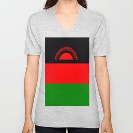 Flag of Malawi Unisex V-Neck
