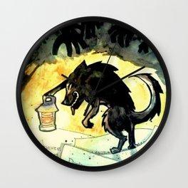 Storybook Wolf Wall Clock