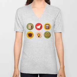 School And Knowledge Unisex V-Neck