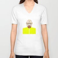 walter white V-neck T-shirts featuring Walter White by Matteo Lotti