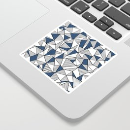 Abstraction Lines with Navy Blocks Sticker
