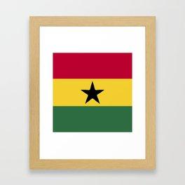 Ghana flag emblem Framed Art Print