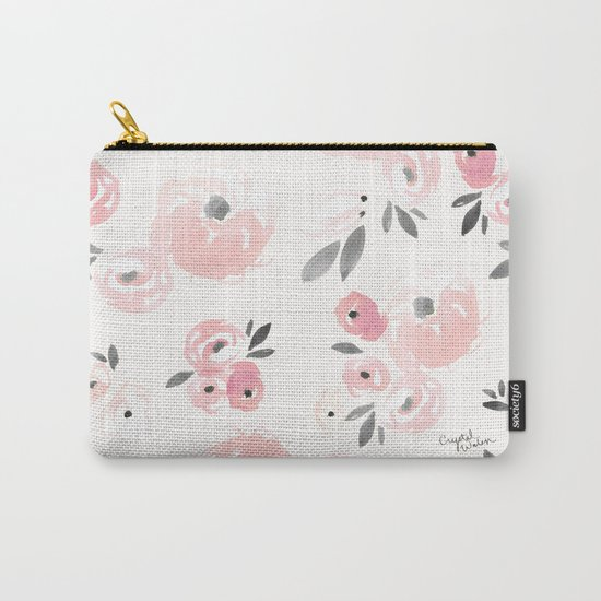 Sweet Blush Blooms Carry-All Pouch
