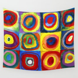 Kandinsky, Farbstudie - Quadrate und konzentrische Ringe, Color Study. Squares with Concentric Circles 1913 Wall Tapestry