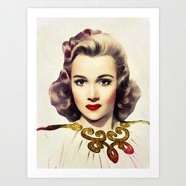 Carole Landis, Vintage Actress Art Print