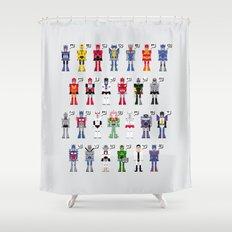 Transformers Alphabet Shower Curtain