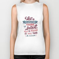 paper towns Biker Tanks featuring Paper Towns: Treacherous Thing by Risa Rodil