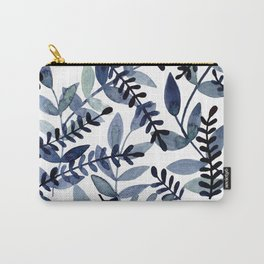 Watercolor branches - indigo Carry-All Pouch