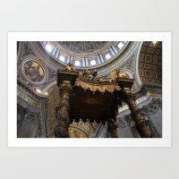 High Upon The Altar  Art Print