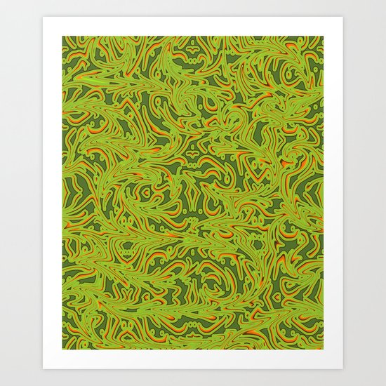 Sixties Swirl Art Print