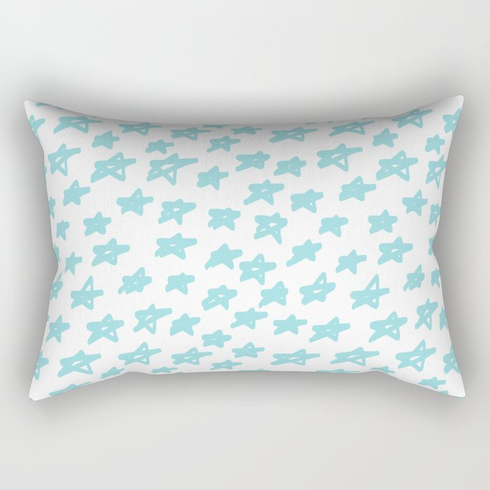 Stars mint on white background, hand painted Rectangular Pillow