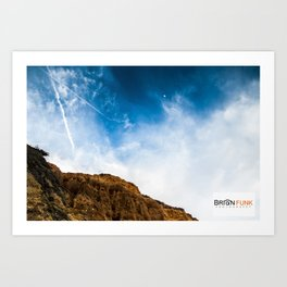 Blue Sky Rock Art Print