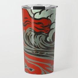 Lava Meets The Sea Travel Mug