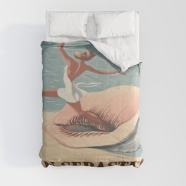 Vintage poster - San Sebastian Comforters