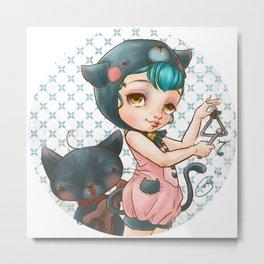 Wild Cutea kitty girl Metal Print