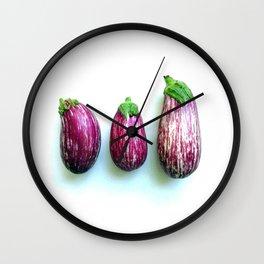 Philippine eggplants Wall Clock