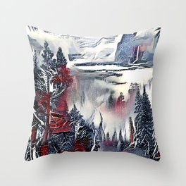 Winter Etude. Throw Pillow