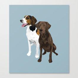 Hank and Waylon Canvas Print
