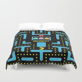 pac-man blue Duvet Cover