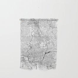 Washington D.C. White Map Wall Hanging