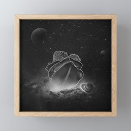 beautifully unfinished b&w. Framed Mini Art Print