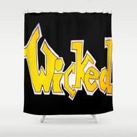 wicked Shower Curtains featuring Wicked by Mollybaggy