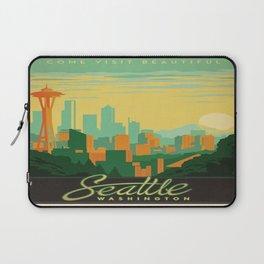 Vintage poster - Seattle Laptop Sleeve