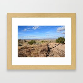 Clouds and Shadows Cast in the California Desert Framed Art Print