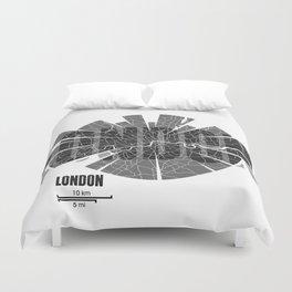 London Map Duvet Cover