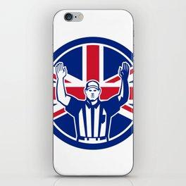 British American Football Referee Union Jack Flag Icon iPhone Skin
