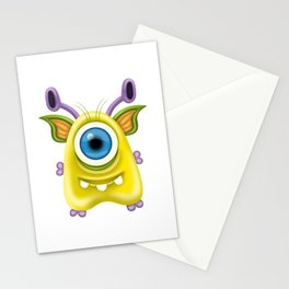 A raster illustration of a monster. Stationery Cards