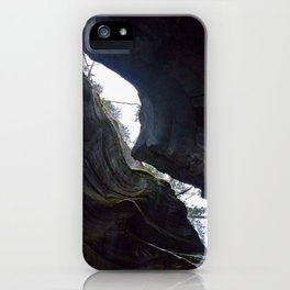 In the depths of Maligne Canyon looking up - Canada iPhone Case