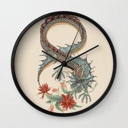 Botanical Flower Dragon 8 Wall Clock