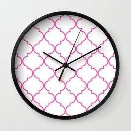 Quatrefoil - Bubblegum Wall Clock