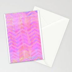Neon Chevron Stationery Cards