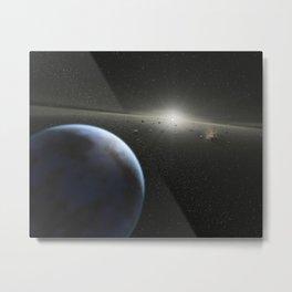 475. Building Planets Metal Print