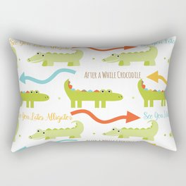 Alligator Crocodile Rectangular Pillow