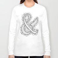 ampersand Long Sleeve T-shirts featuring Ampersand by Laura Maxwell