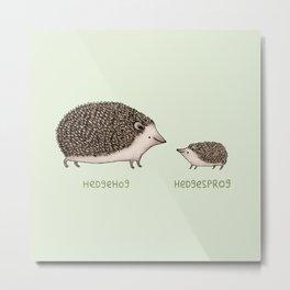Hedgehog Hedgesprog Metal Print