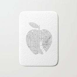 New York City big apple Poster black and white I Heart I Love NYC home decor bedroom wall art Bath Mat