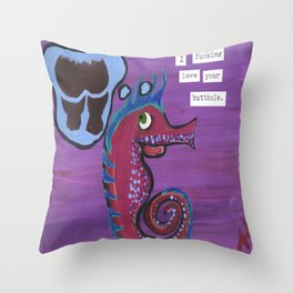 Your Butthole Throw Pillow